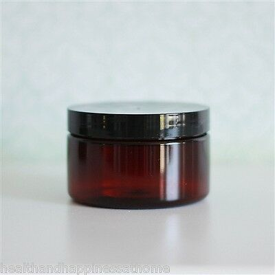250Ml / 250G Size Amber Pet Plastic Jar With Lid ~ Eco Friendly
