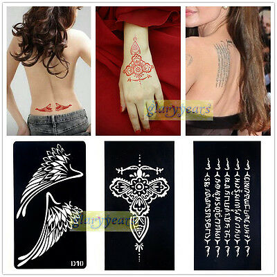 1pc Large India Henna Body Art Decal Temporary Tattoo Stencil Template Airbrush