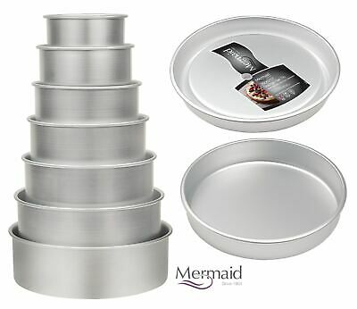 Mermaid Silver Anodised Loose Base Cake Sponge Sandwich Pan Tin, Variouse Sizes