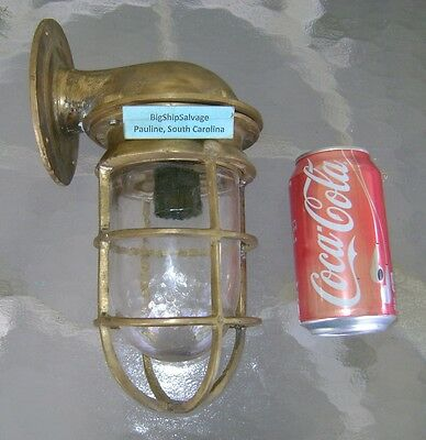 Original Cast Brass Nautical Wall Mounted Bulkhead Ship Light #M1