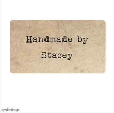 Personalised Homemade Handmade by Shabby Vintage Rustic Effect Sticker chic -369