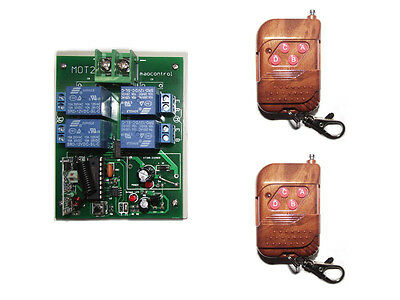 Two DC motor Forward and reverse RF Wireless Remote Controller switch DC12V/24V