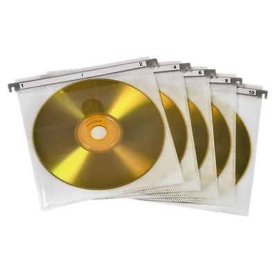 Pack of 50 Hama CD/DVD Double Protective Sleeves for Magic Touch Box