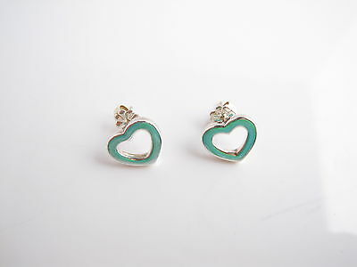 Auth Tiffany & Co SILVER Heart Earrings