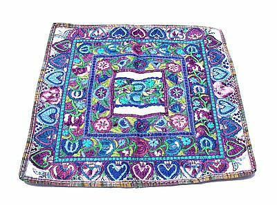 Violet Guatemalan Huipli Sham Pillow Cover ONE OF A KIND Hand Made NEW
