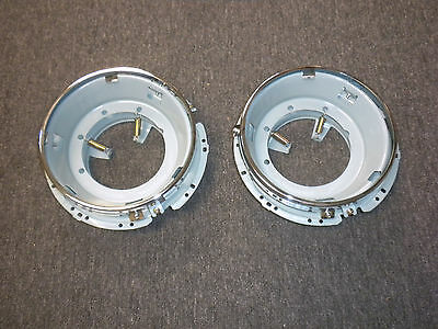 Headlight Bucket Assembly Fits Volkswagen Type1 Bug Type3 Ghia Thing 2Pcs