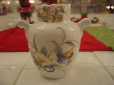 Beautiful Vintage Aynsley Bone China Small Vase Just Orchids Made In England