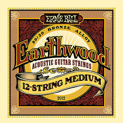 Ernie Ball Earthwood 12-String Medium 80/20 Bronze Acoustic Guitar Strings 11-52
