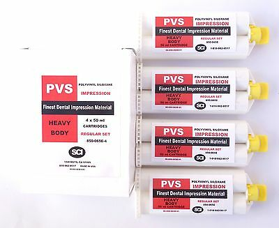 HEAVY BODY REGULAR 2 MINUTE SET PVS SILICONE IMPRESSION CARTRIDGE MATERIAL 4x50m
