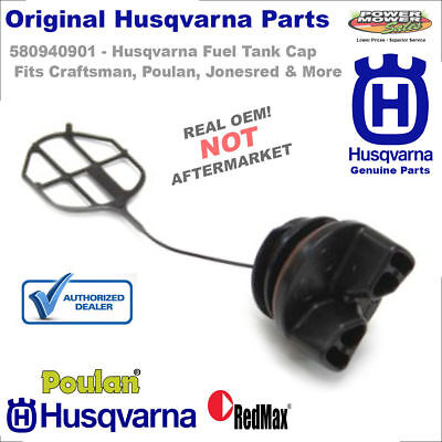 Husqvarna Poulan Fuel Cap for Chainsaws / 580940901, 577858501, 530047192