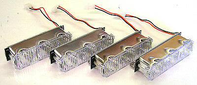 Whelen LED lightbar Justice Con 3 AMBER set of 4 NEW
