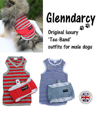 Luxury Dog Belly Band / Nappy Outfits For Boys - Xs To Large - Urine Marking
