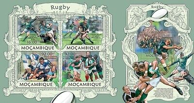 MOZ13208ab Mozambique 2013 Rugby MNH SET **