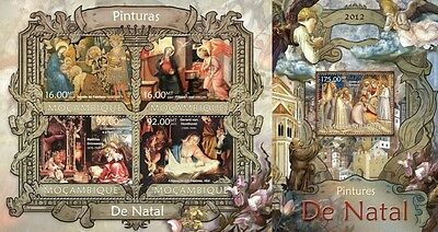 MOZ13212ab Mozambique 2013 Christmas Paintings MNH SET **