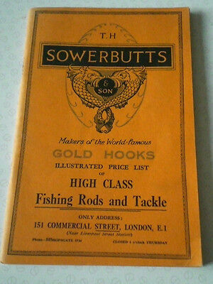 A Rare Vintage T H Sowerbutts Advertising Fishing Catalogue Circa 1937/38