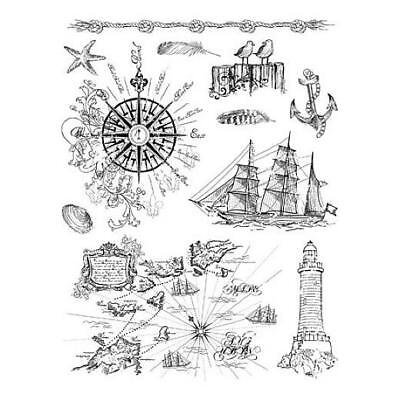 Viva Decor A5 Clear Silicone Stamps Set - At the Seaside #19