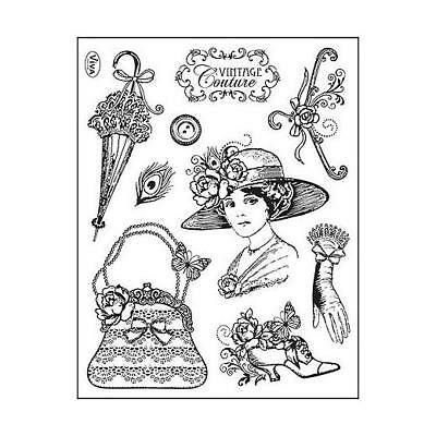 Viva Decor A5 Clear Silicone Stamps Set - Vintage Couture #81