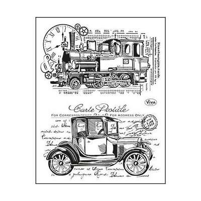 Viva Decor A5 Clear Silicone Stamps Set - Old Timer #100