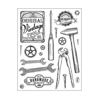 Viva Decor A5 Clear Silicone Stamps Set - Vintage Tools #101