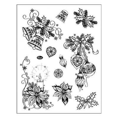 Viva Decor A5 Clear Silicone Stamps Set - Classical Christmas 3D Motifs #70
