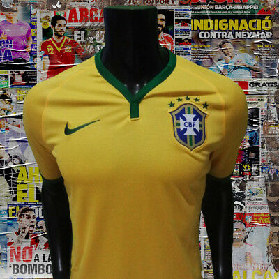 a9295410eef Nike Authentic Brazil Brasil home soccer jersey world cup 2014 size M