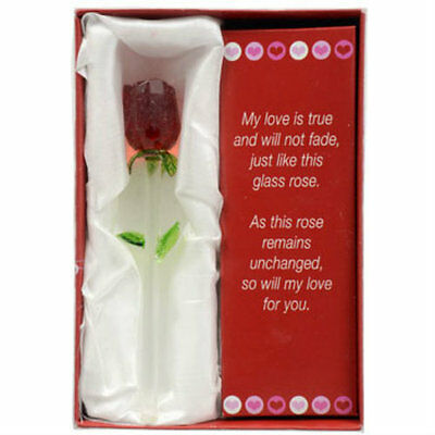 New Forever Glass Rose Valentine's Day Perfect Gift Say I Love You~FREE SHIPPING
