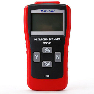 MaxScan GS500 OBD2 II EOBD Engine Code-Scanner Diagnosescanner Diagnosegerät