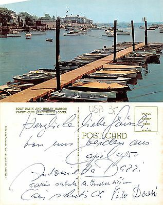 USA - Boat Basin  and Indian Harbor Yacht Club Greenwich Conn. (S-L XX429)