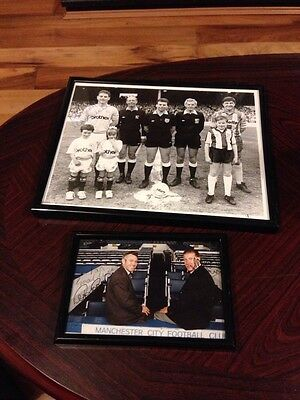 Two Manchester City Signed Photographs - One By Steve Reeves