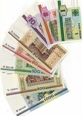 BELARUS Europe UNC set of 9 pcs 1-5000 Rublei p-21,22,23,24,25,26,27,28,29 2000