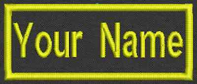 "Rectangle Custom Patch Name - Embroidery Tag, Biker Patch, badge 3.5""x1.5"""