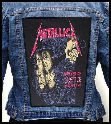 METALLICA -  The Hammer Of Justice Crushes You  --- Giant Backpatch Back Patch