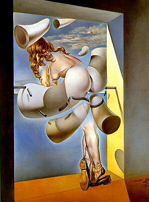 Salvador Dali young girl print canvas 8X12 reproduction of painting