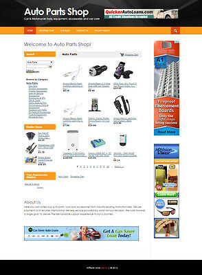 Car Parts Automated Business Website For Sale