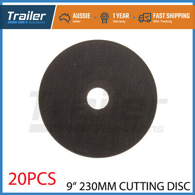 "20 x 9"" 230MM CUTTING DISC WHEEL THIN ANGLE GRINDER CUT OFF METAL STEEL FLAP"