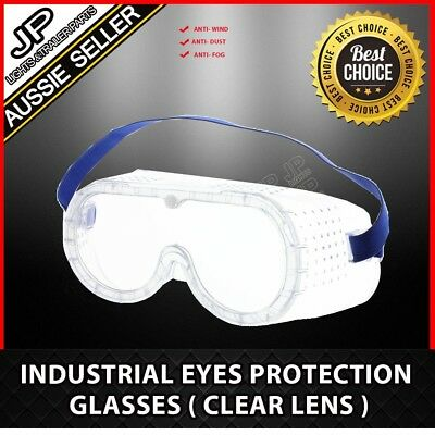 Industrial Eyes Clear Protection Glasses Safety Goggles Wind & Dust Anti-fog