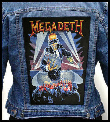 MEGADETH - Berlin Wall  --- Giant Backpatch Back Patch