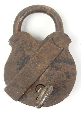 Vintage Iron Padlock *working Key* German Antique - # 6