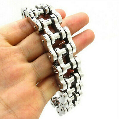 20mm Heavy Gothic Motorcycle Biker Chain Stainless Steel For Cool Mens Bracelet