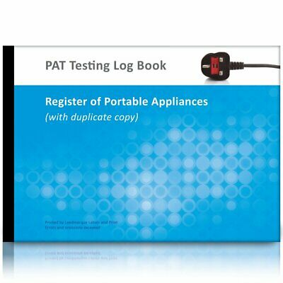 A4 PAT Test Log Book (Multiple Site with Duplicate Copy)