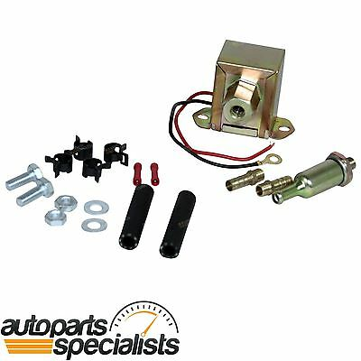 Electric Fuel Pump 12 volt Solid State 4 to 6psi 130 LPH Petrol Universal New