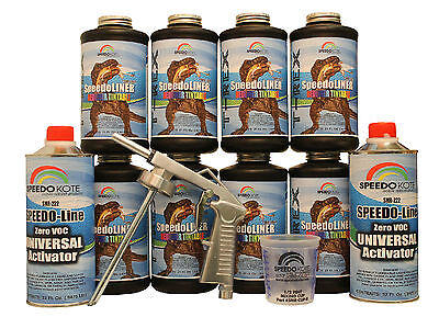 T-Rex Tintable spray-on truck Bed Liner, SMR-1000T-K8 Bedliner kit w/Free Gun