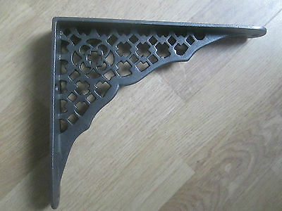 "8"" Old Antique Cast Iron Shelf Cistern Sink Bracket Fancy Decorative Ornate"