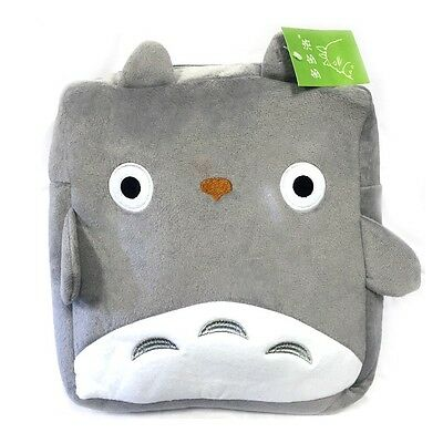 """Japanese My Neighbor TOTORO 12"""" Fluffy Plush Backpack with Adjustable Strap"""