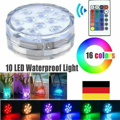 RGB LED Unterwasser Lampen Fernbedienung Party Vase Aquarium Decor Leuchte