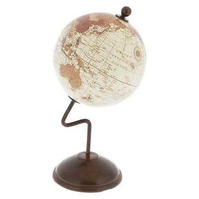 7.5cm World Spinning Globe on 15cm Curve Stand Office Home Decor Gift