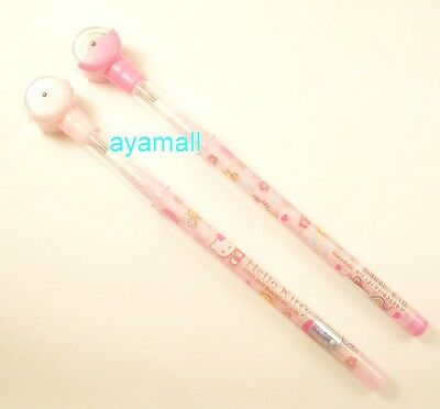 Hello kitty non-sharpening pencil set/2pcs w/rolling stamp