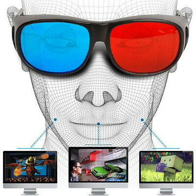 Universal Type 3D Glasses/Red Blue Cyan 3D glasses Anaglyph 3D Plastic Glasses O