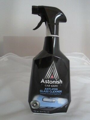 Astonish Anti-Fog Glass Cleaner Non Smear Trigger Spray 750Ml New