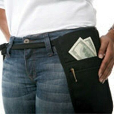 Cocktail Waiter Waitress Money Pouch & BELT Black Fits Small Phablet Tablet